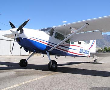 N814BA Front Pilot Side